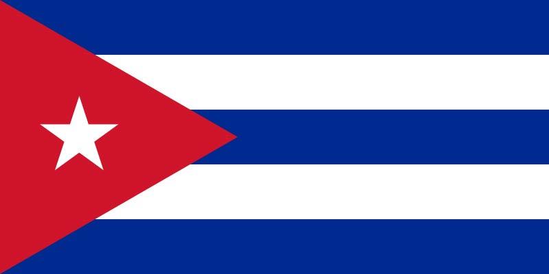 キューバ共和国国旗