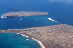 ノースセイモア島とバルトラ島の間にある白砂の島。