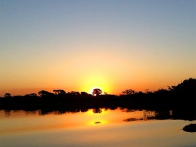 パンタナールに沈む夕日