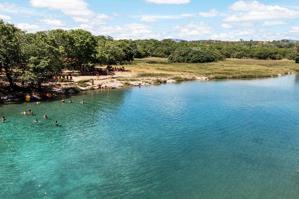 透明度抜群の湖 Pratinha