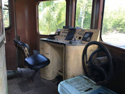 ハーシー列車の運転席